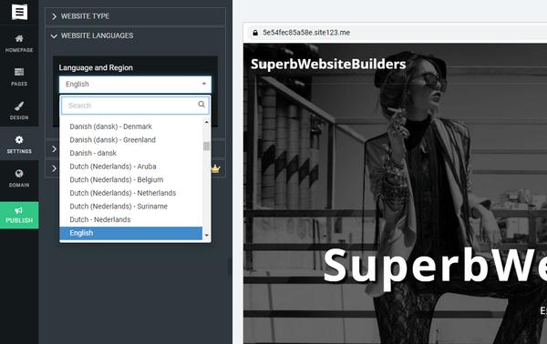 SITE123 Multilingual Website