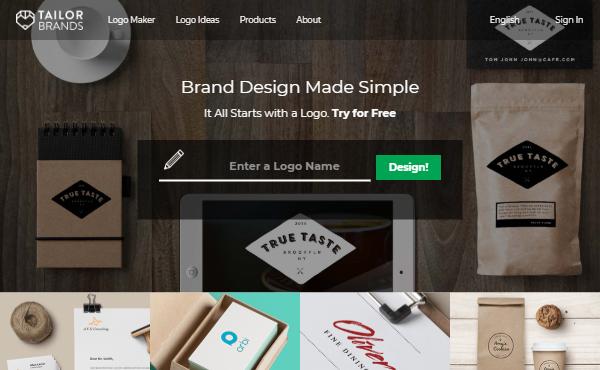 Tailor Brands - Best Service to Order Portfolio Website