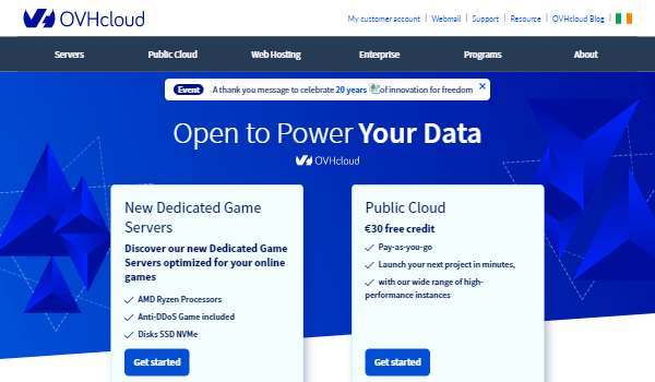 OVH – Powerful Dedicated Servers with DDoS-protection