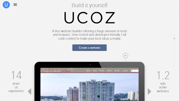 uCoz – 100% Free Website Builder for Bloggers