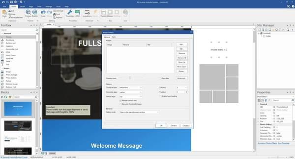 90 Second Website Builder Customizable Blocks