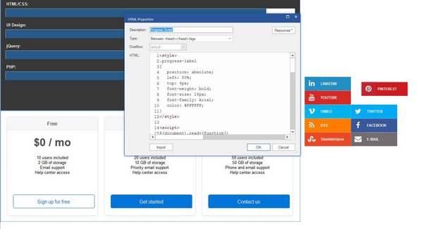 90 Second Website Builder Source Code Editing