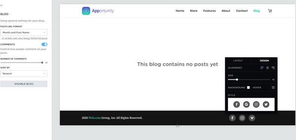 Blogging Feature