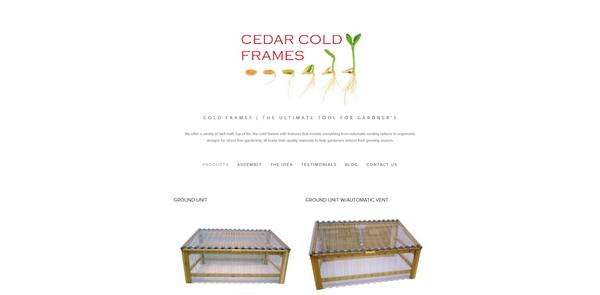 Cedar Cold Frames