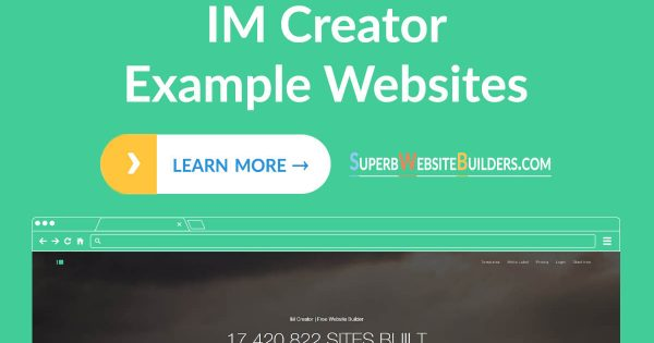 IM Creator Website Examples