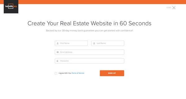 WebsiteBox sign up