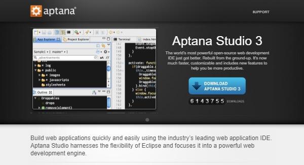 Aptana Studio - Open-source Web Development IDE