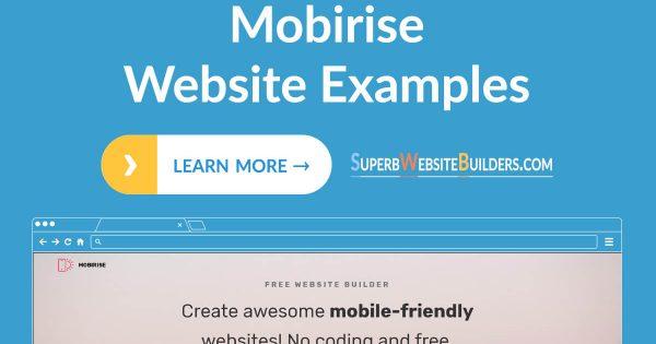 Best Mobirise Website Examples