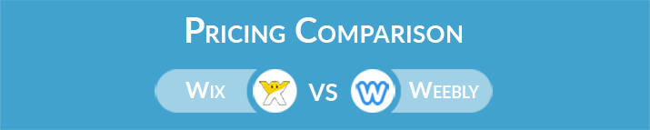 Wix vs Weebly: General Pricing Comparison