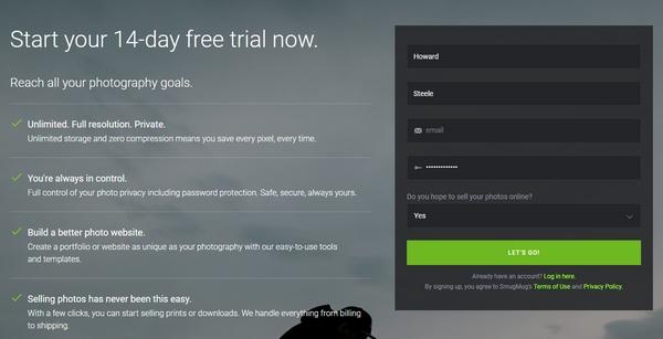 SmugMug start trial