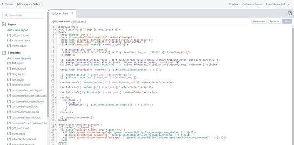 Shopify Custom HTML