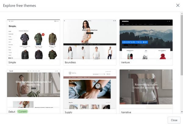 Shopify Free Templates