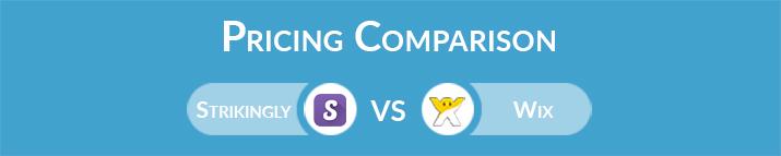 Strikingly vs Wix: General Pricing Comparison