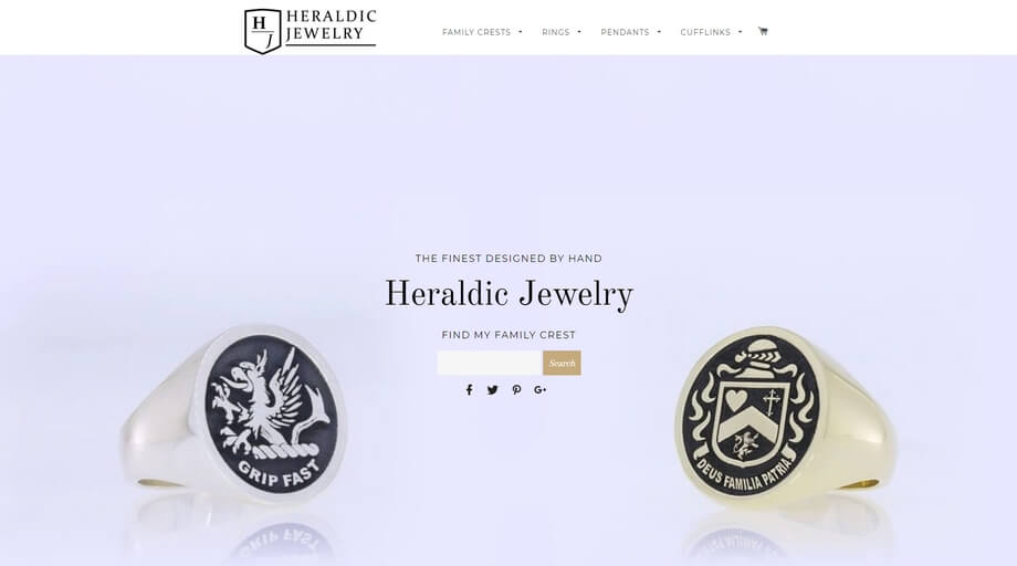 The brand offers a collection of exclusive jewelry pieces featuring international shipping