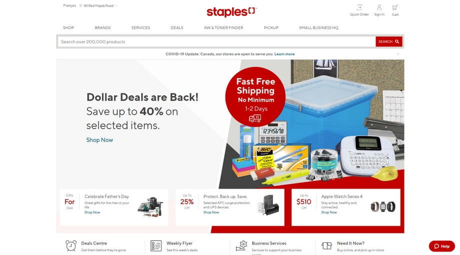 A store focused on selling different devices and accessories with special deals, discounts, and sales