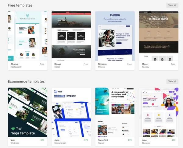 Webflow free template
