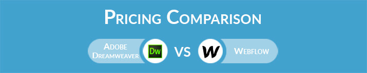 Adobe Dreamweaver vs Webflow: General Pricing Comparison