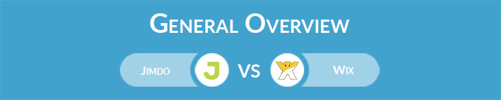 Jimdo vs Wix: General Overview