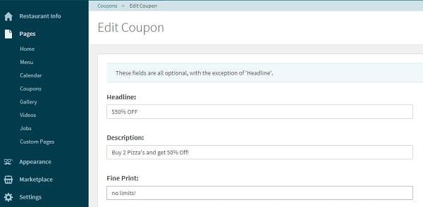 Letseat coupon editor