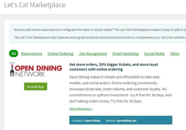 Letseat marketplace