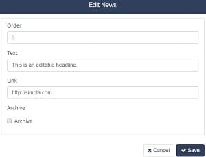 Simbla News Ticker