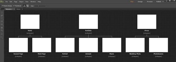 Adobe Muse Sitemap Editor