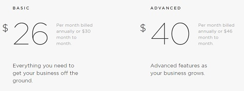 SquareSpace eStore Pricing