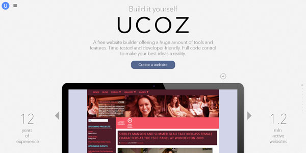 uCoz – FREE Sport Community Website Builder