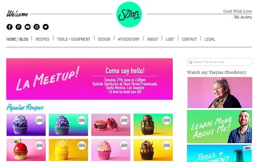 Wix Blogs Examples - The Scran Line