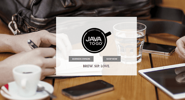 JavaToGo - Weebly website example