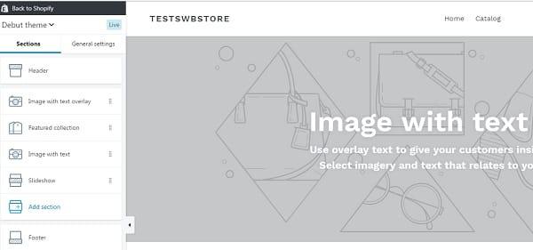 Shopify Theme Editor