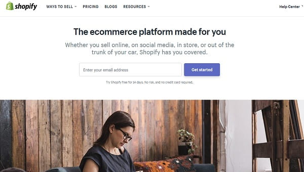 Shopify - The Best Ecommerce Platform to Start Sell Online