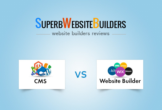 cms vs website builder