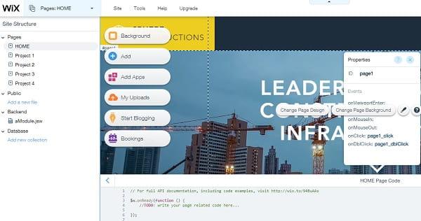 Wix Code Editor