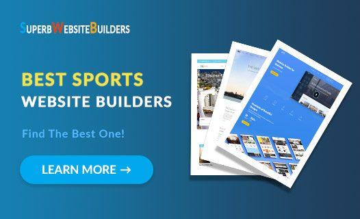 best sports website builders