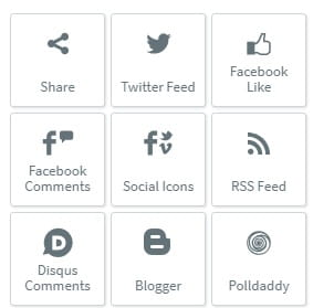 1 and 1 widgets social