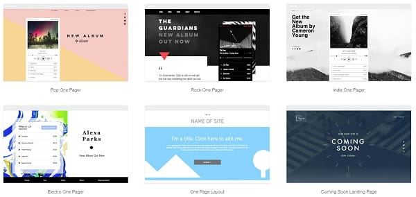 Wix one page templates