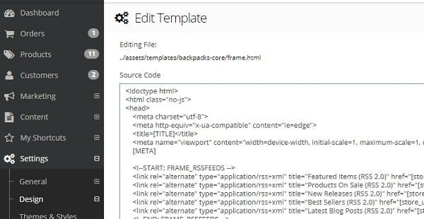 3dcart HTML/CSS Template Editor