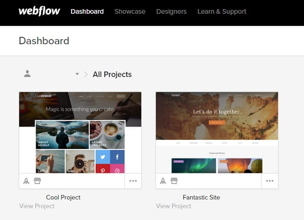 Webflow Dashboard