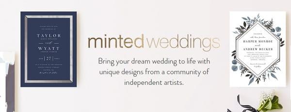 Minted Weddings - Free Wedding Website Builder