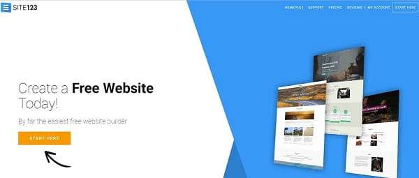 SITE123 - Great Platform for DIY Website Creation