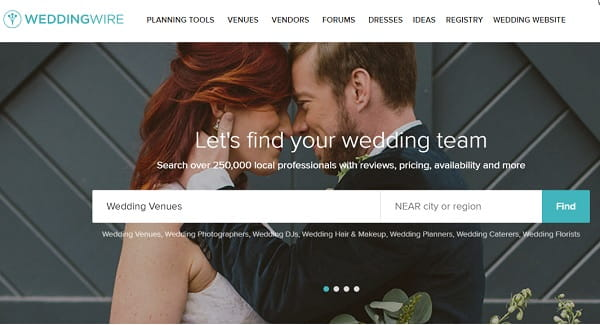 WeddingWire - Easy-to-Use Platform for Wedding Sites