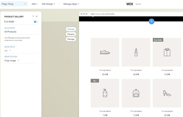 Wix Store Editor