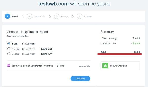 Wix Free Domain