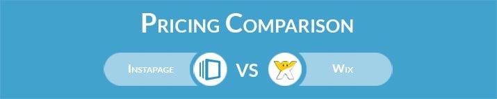 Instapage vs Wix: General Pricing Comparison