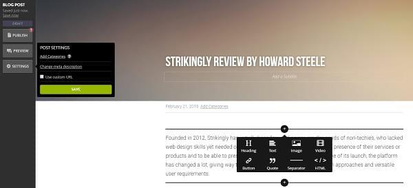 Strikingly Blog