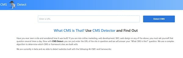 CMSdetect