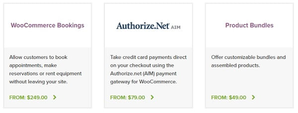 WooCommerce - Paid Extensions