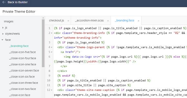 Zoho Code Editor