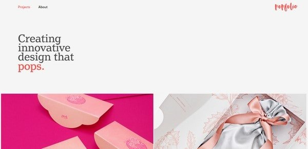 Popfolio – Art direction, web and UI/UX design